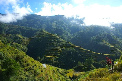 The viewpoint of Banaue Rice terraces. There are so much of the terraces all over the place so you could practically call everything Banaue Rice terraces.