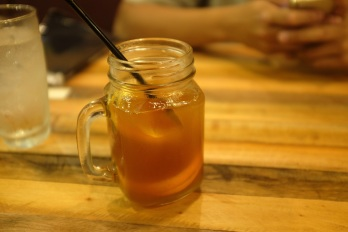 Their house blended iced tea. I saw the waiter put in lipton lemon bags in the cup while making the tea... Hmm.