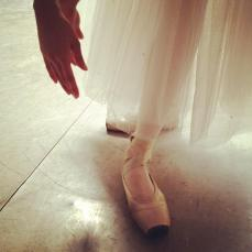 Don't you miss wearing your pointe shoes? I miss these moments and our late night rehearsals.