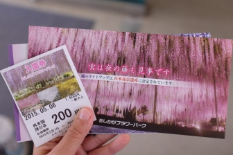 The ticket will cost you ¥1600 to enter the park itself.