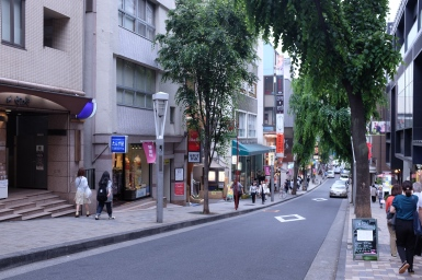 Its a very long street! Try walking it from Iidabashi and you will not get bored!