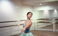 Mika in our mint green tutu, current bestseller and featured tutu of the month